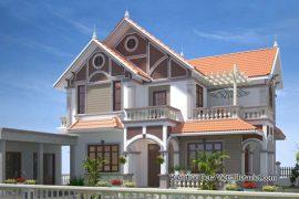 Với diện tích 1000m2 bạn có thể sở hữu biệt thự 2 tầng mang phong cách cổ điển như thế nào?