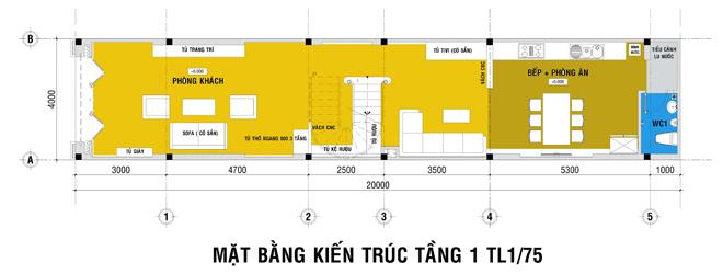thiết kế xây nhà 4 tầng
