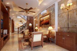 Tư vấn thiết kế xây nhà 4 tầng theo phong cách bán cổ điển